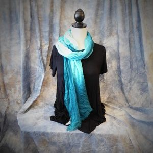 Coldwater Creek Turquoise Ombre Scarf